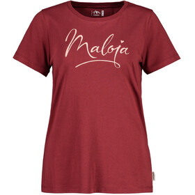 Maloja ForbeschaM. T-Shirt Donna, red monk